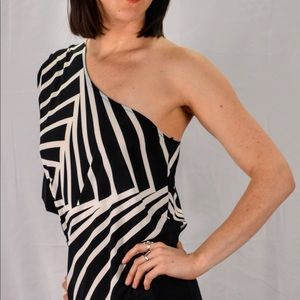 BCBG MaxAzria one shoulder dress